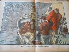 La Toussaint en Mer COmposition de Gignoux  Print 1935
