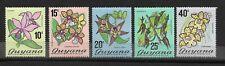 Guyana 1972 flowers. SC 138-142 MNH
