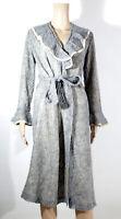 Alba Lingerie italienischer Morgenmantel grau gr. 44 Pyjamamantel mit Mohair