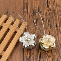 1 Pc Flower Pearl Curtain Tieback Drapery Holder Buckle Magnetic Steel Wire Rope