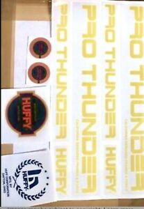 MACHO old school bmx Orange Red decal set Cycle Pro