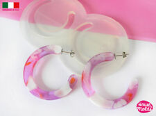 Clear silicone resin mold large bold hoop shapes jewelry crafts earrings DIY