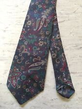 "Vintage grey paisley pattern smart classic tie 3 1/4"" wide 52"" long"