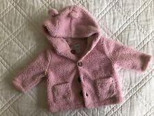 Baby Gap Girls 3-6 Month Pink Fleece Coat