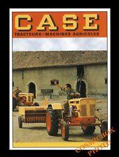 Carte postale affiche tracteurs CASE machines agricoles postcard Tractors pub