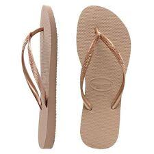 Havaianas Slim Brazil Women's Flip Flops Rose Gold All Size Sandal