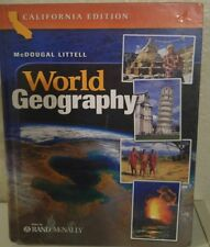 McDougal Littell World Geography 10th grade 10 homeschool ATLAS RAND MCNALLY GD