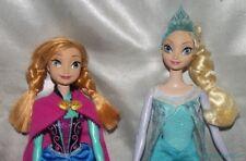 "2012 Disney 11"" Frozen Elsa & Anna Sisters Glittery Fashion Dolls ALWAYS DRESSED"