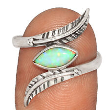 Silver Ring Jewelry s.8.5 Br40472 Southwest American - Fire Opal 925
