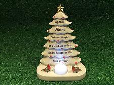 MUM FESTIVE CHRISTMAS TREE, GRAVE MEMORIAL ORNAMENT, GRAVESIDE CEMETERY GIFT.