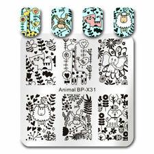 BORN PRETTY  Kunst Nagel Stempel Schablone Nail Art Stamp Animal Leaf