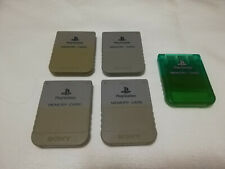 Official SONY PlayStation 1 Memory Card Set Grey & Green