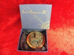 Belle Presse-Papier, Presse-Papiers, Zodiaque: Sagittaire, Zidiac, en Laiton