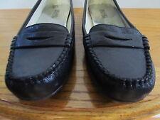 Women's Michael Kors WINSOR Black Leather Penny Loafer Flat Slip-On Size 8M