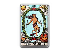 THE WORLD TAROT CARD Major Arcana Rider Waite Quality Fridge Magnet