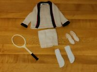 Vintage Barbie 1960's Ken TIME FOR TENNIS Sweater racket Socks Shoes Shorts