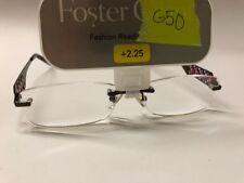 """Foster Grant """"Fantasia"""" Women's Rimless Metal Frame Reading Glasses +2.25 G50"""