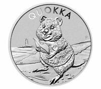 2020 Australia Perth Mint Quokka 1oz Silver Bullion Coin 30,000 mintage