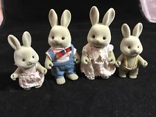 Calico Critters Sylvanian Vintage Baerenwald Forest Families Grey Rabbit family