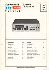 ITT GRAETZ - HIFI 2421 M - Service Manual Schaltplan for tape deck - B8867
