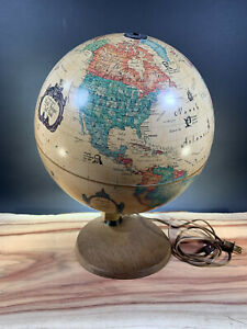 1980's World Antique Spot Globe by Readers Digest - Lighted - Made in Denmark
