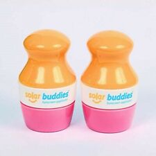 Solar Buddies Refillable Sunscreen Applicator Mess Free Easy To Use x2 Pink