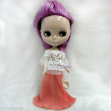 Blythe Momoko Hujoo Berry Pureneemo Bjd Outfit Snow Lace Heart Tee + Long Skirt