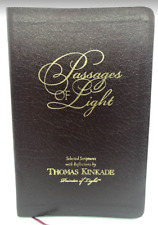 THOMAS KINKADE Passages Of Light Selected Scriptures Reflections Leather Book