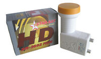 TWIN PREMIUM LNB LMB 0.1dB HIGH GAIN BEST FOR FULL HD 3D 4K NC+ CYFROWY POLSAT