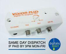 ANTENNA TV TELEVISIONE Caravan Ripetitore di segnale VISION PLUS DIGITALE AMPLIFICATORE 12-24v