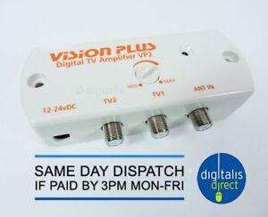 Caravan Television TV Aerial Signal Booster Vision Plus Digital Amplifier 12-24v