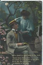 Postcard - I'm afraid to come home series posted 1909