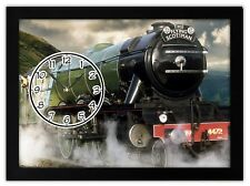 THE FLYING SCOTSMAN Steam Train gift MANTEL OR DESK CLOCK