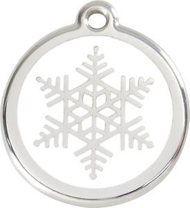 "Red Dingo ""Snowflake"" Engraved Pet Dog & Cat ID Tag - Free Engraving"