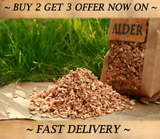 ALDER Wood chips for BBQ Smoking 10L | BEST FOOD SMOKER WOOD CHIPS - GUARANTEED