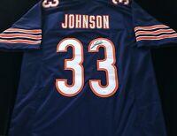 Jaylon Johnson Signed Autograph Blue Football Jersey JSA COA Chicago Bears Great