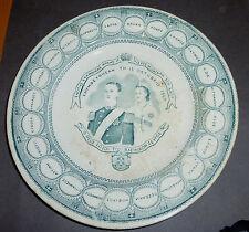 Greek Commemorative Plate George A & Olga Kings of Greece 19th.Syros