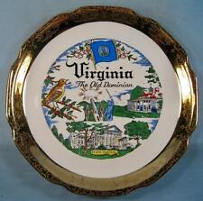 Virginia The Old Dominion Decorative State Plate Capsco Capitol Souvenir Co (O2)
