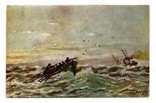 1928 FINLAND POSTCARD SEND TO LATVIA RED CROSS BOAT IN SEA