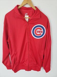 Chicago Cubs Full Zip Dynasty Track Jacket 2016 World Series Logo Red Medium
