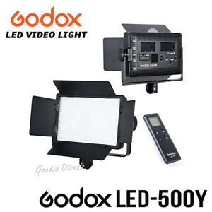 Godox LED500Y Yellow Version 3300K Continuous LED Video Light Panel Camera Light