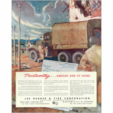 1945 Lee Rubber and Tire: Trustworthy Abroad and at Home Vintage Print Ad