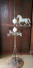 Antique Running Horse Weathervane,(Rare Directionals) & lightening balls. Nice!