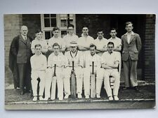 SWINDON squadra CRICKET old postcard vecchia cartolina fotografica England