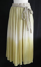 JW Full Skirt Polyester Chiffon Lime Green and Off White  Size M.  Cotton Lining