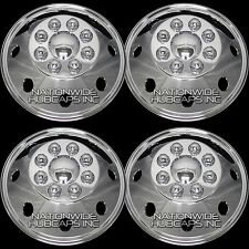"4 FORD Truck Van 16"" CHROME 8 Lug Full Wheel Covers Rim Hub Caps 4 Steel Wheels"