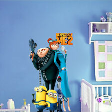 Minions Despicable Me 2 Removable Wall stickers Wall Decal Kids Room Decor DIY