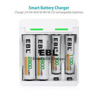 EBL 4 slots USB Smart Quick Charger For AA AAA NiMH NiCD Rechargeable Battery