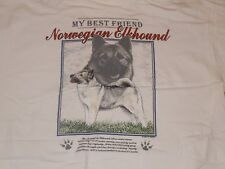 Norwegian Elkhound Shirt Mens Medium 1996 My Best Friend