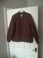 Men's Racing Green Brown padded long sleeve Jacket (L)